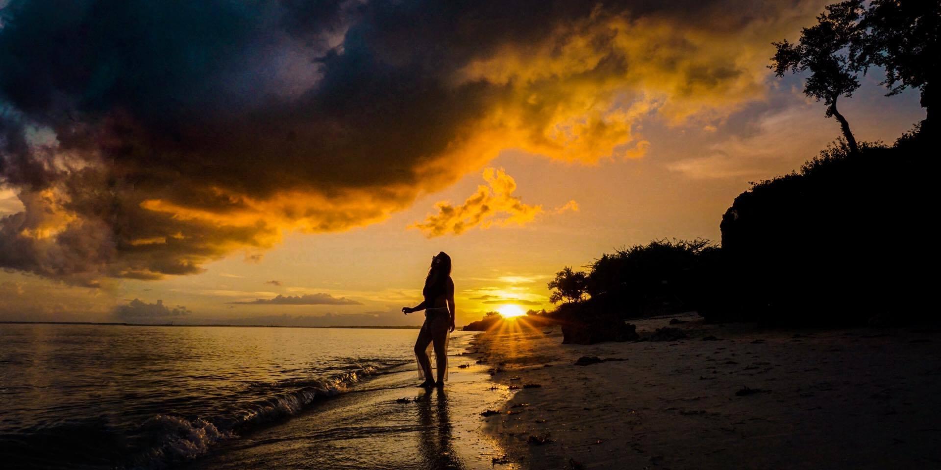 Sunset at Paradise Beach Bantayan Island, Cebu