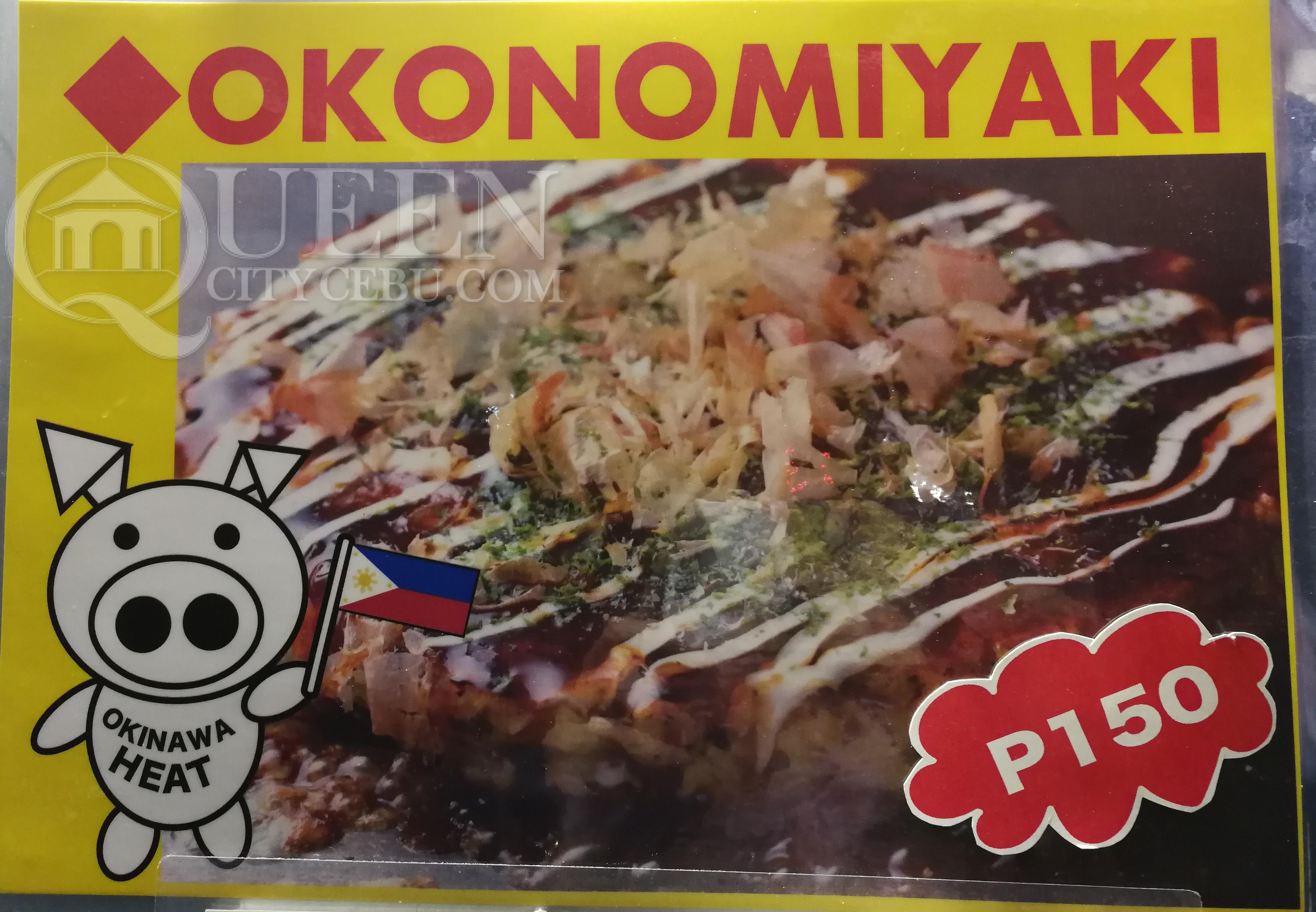 Japanese Pancake Okonomiyaki at Okinawa Heat Japanese Food Truck