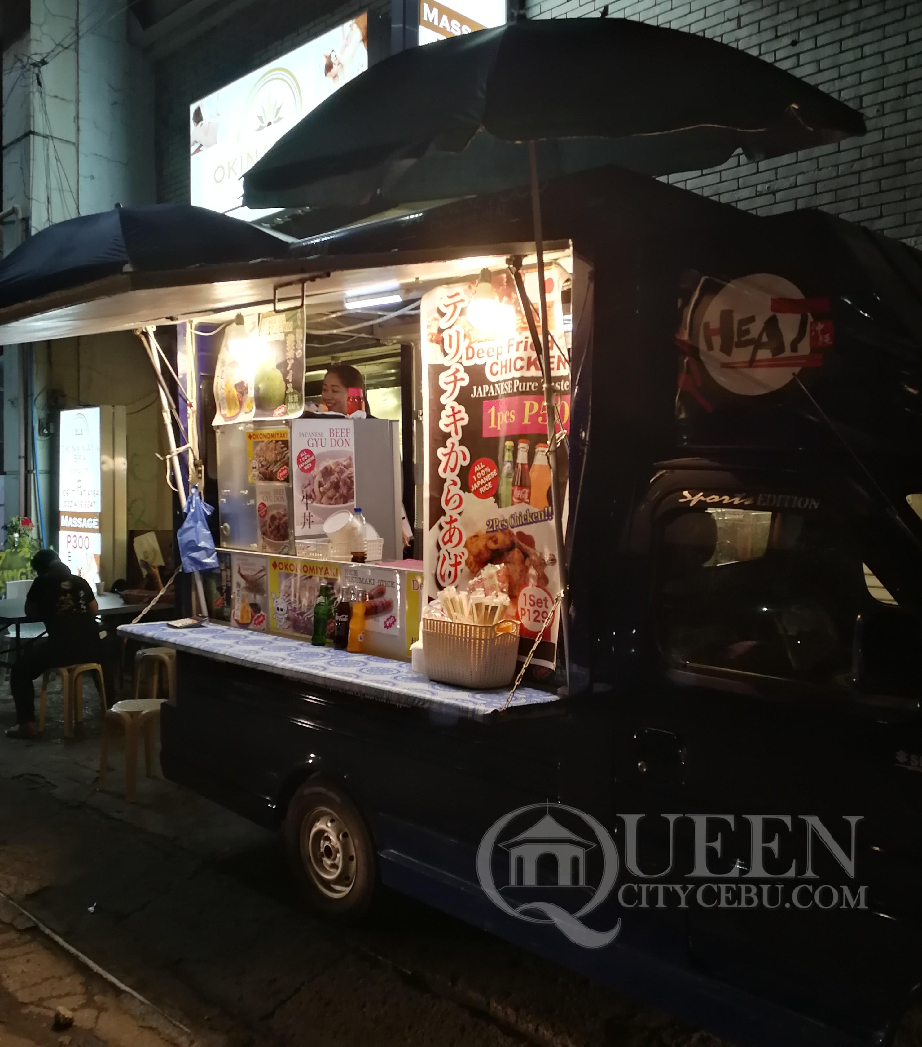 Okinawa Heat Japanese Food Truck Parked infront of Okinawa Spa