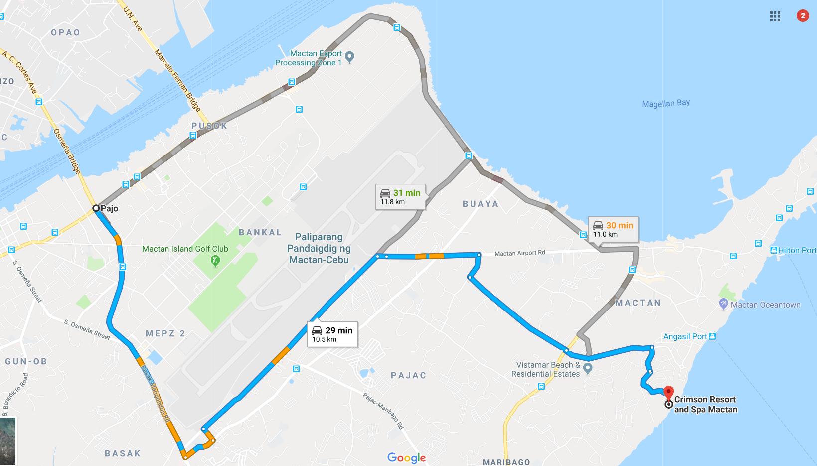 how to get to crimson resort