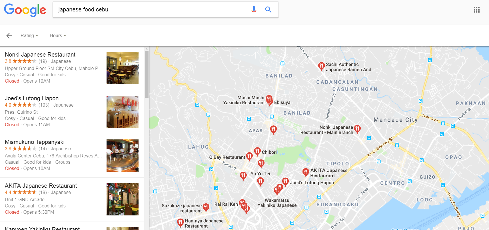 japanese food cebu