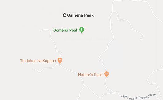 Osmena Peak Map
