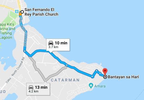 Bantayan map