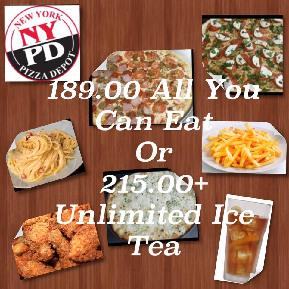 Unlimited Pizza, Pasta, Chicken, Fries and Rice: | NYPD Pizza And Pasta Buffet