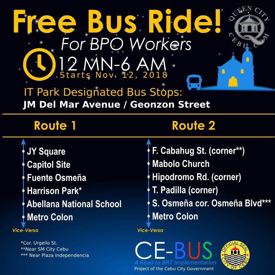 Free Bus Rides BPO Employees