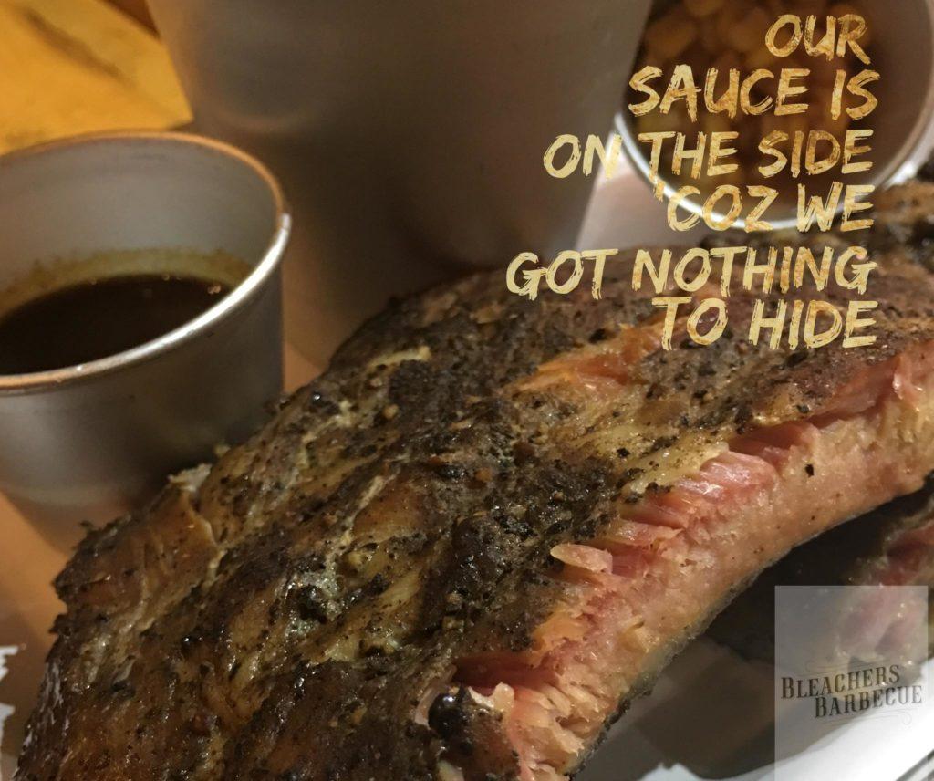 bleachers bbq pork spare ribs