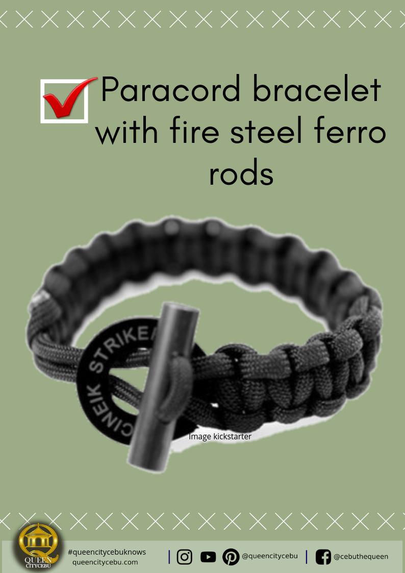 paracod bracelet with fire steel ferro rods