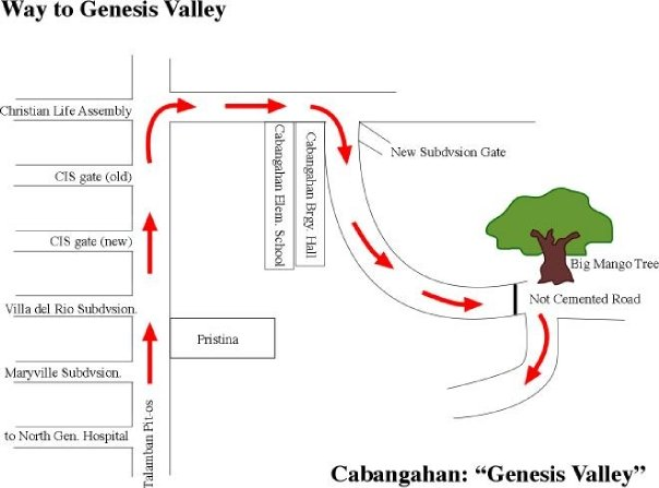 Map to Genesis Valley Mountain Resort