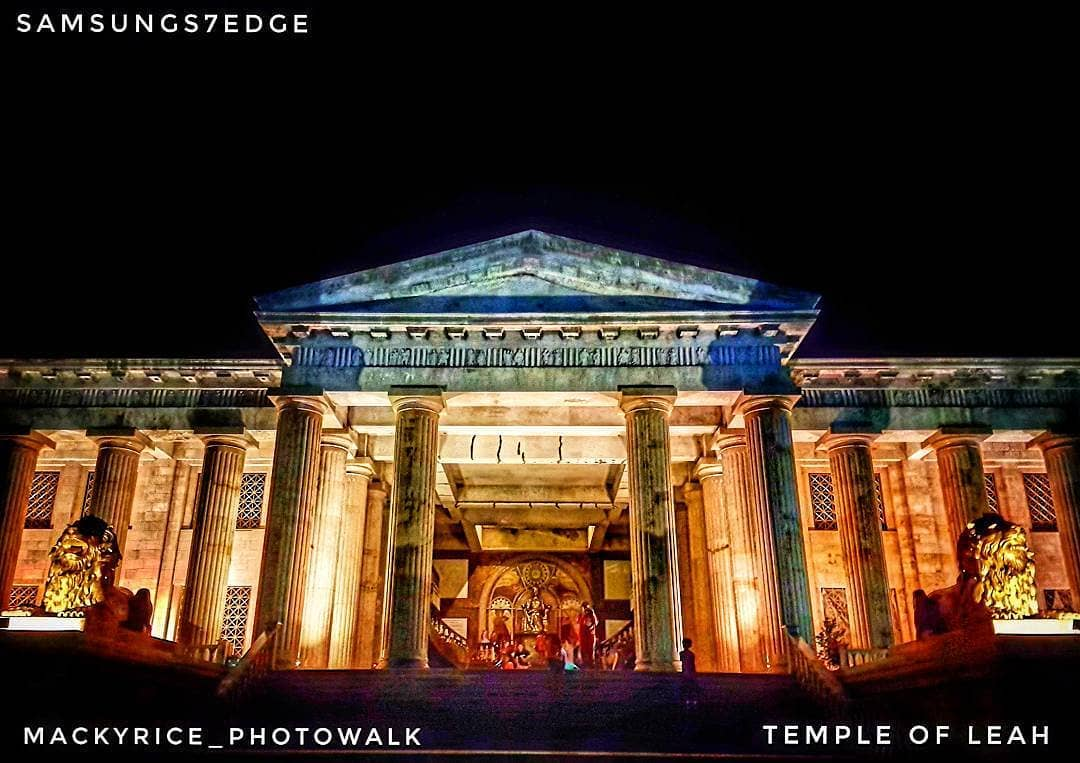 Temple of Leah at night. Photo by mackyrice_photowalk