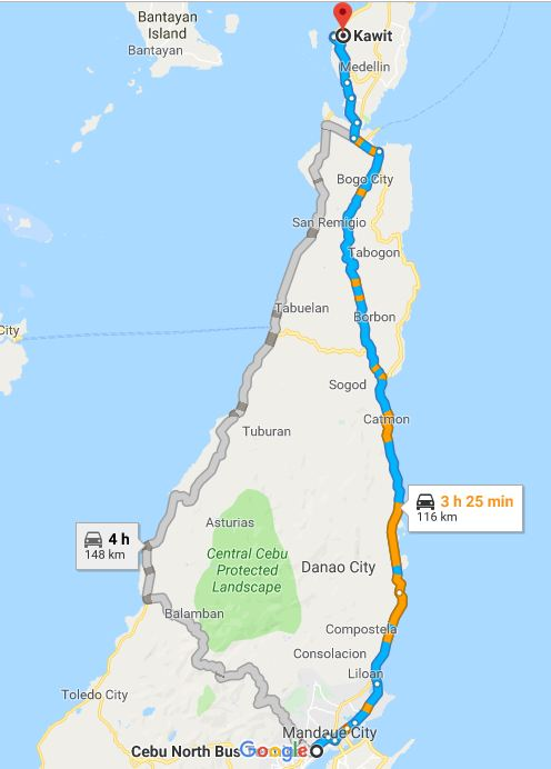 map to kawit medellin