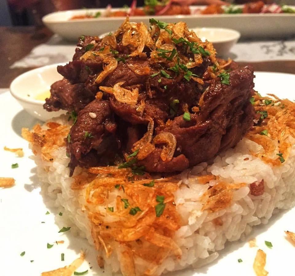 Saigon Adobo - Lemongrass tenderloin adobo, garlic & dried shrimp fried rice with nuoc nam dipping sauce. Photo from Facebook Page.