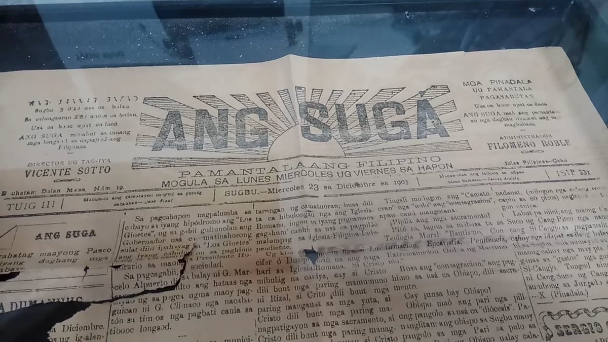 Ang Suga founded by Vicente Sotto