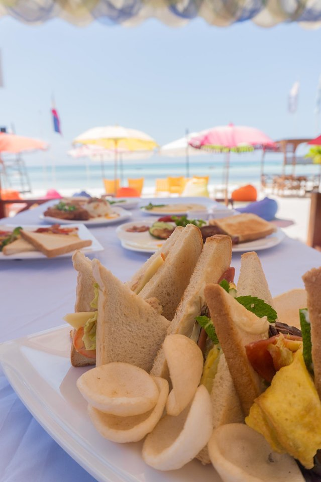 Yum sandwiches and that view!