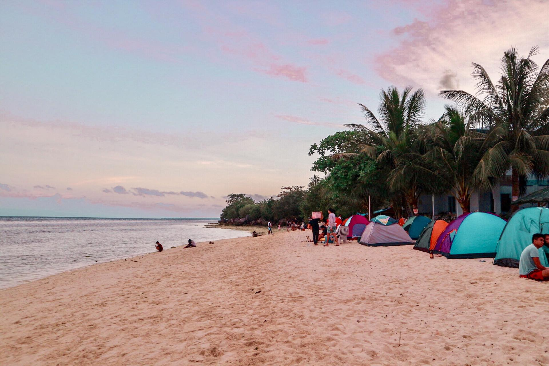 Camping at Lambug Beach in Badian