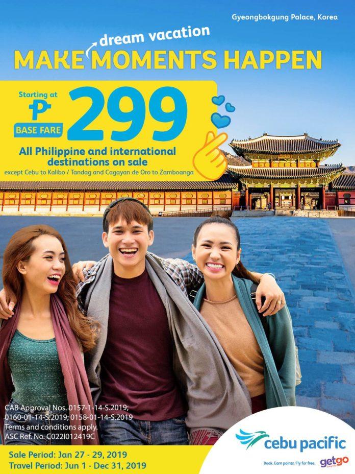 Cebu Pacific Seat Sale 2019