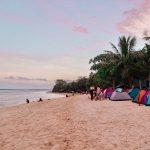 Camping at Lambug Beach in Badian
