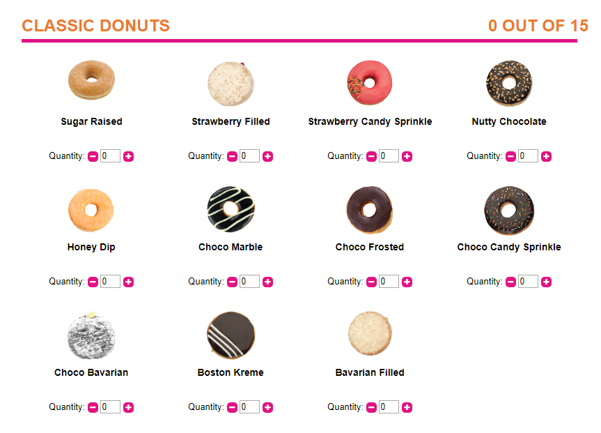 dunkin donuts classic flavors