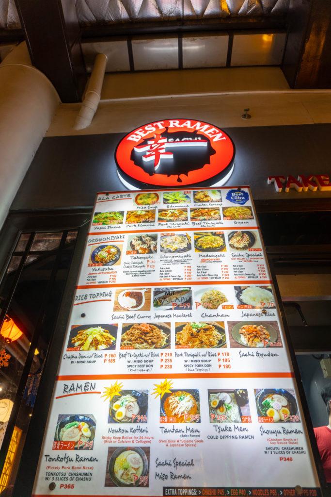 sachi ramen menu